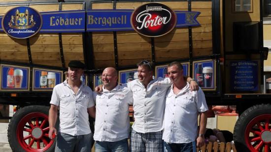 Löbauer Bierwagen Ziehen