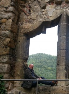 Heinz Eggert auf der Burg und Kloster Oybin
