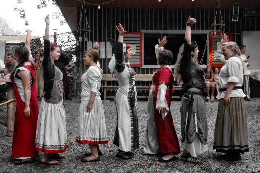 Mittelalterliche Narredey für Jung